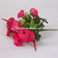 cheap simulation morning glory artificial silk flower for home