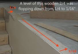 how to level concrete subfloor for laminate hardwood stair nosing