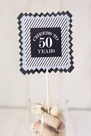 Centerpieces 50th Birthday Party by Masculine Milestone Birthday Party Centerpiece Sticks 50th