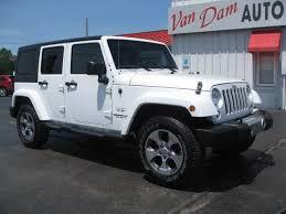 white four door jeep wrangler 2017 gasoline jeep wrangler suv in michigan for sale 51 used