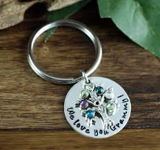 personalized birthstone keychains personalized family birthstone tree keychain at sweet blossom gifts