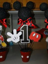 mickey mouse center pieces diy mickey mouse centerpieces i made for my s 1st birthday