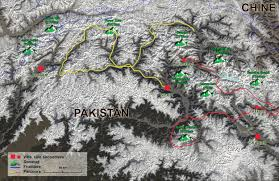 Karakorum On Map Karakoram Karakorum D U0027himalaya D U0027indu Kush Kouch Pakistan