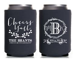 wedding personalized koozies custom wedding koozie cheers to many years and by christinemeahan