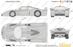 maserati mc12 the blueprints com vector drawing maserati mc12