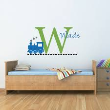 28 train stickers for walls train name wall decal set train train stickers for walls personalized train decal initial wall decal with name and