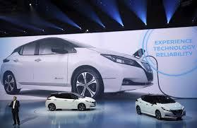 nissan leaf electric car range nissan shows leaf electric car revamped with more range