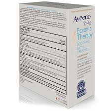 amazon com aveeno baby eczema therapy soothing baby bath amazon com aveeno baby eczema therapy soothing baby bath treatment 5 count 3 75oz pack of 2 health personal care