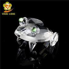 wholesale cheap lead glass frog ornaments tl 0855