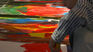 family master class opole art gallery boys painting with colorful
