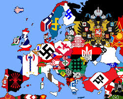 Current Map Of Europe Map Of Fascist Flags Across Europe Extended Vexillology