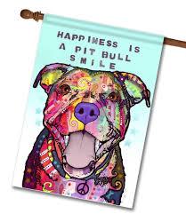 pitbull halloween background pit bull smile house flag 28 u0027 u0027 x 40 u0027 u0027 custom printed flags