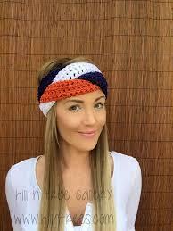 football headbands navy blue orange white denver headband braid hair