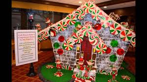 outdoor christmas gingerbread house inspiration youtube