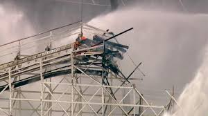 Six Flags Magic Mountain Fire Fire Damages Colossus Roller Coaster At Magic Mountain Kabc7
