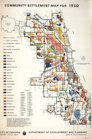 Map Of Chicago O Hare by 1950 Community Settlement Map By The City Dept Of Development And