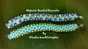 beaded bracelet pattern images Majestic beaded bracelet tutorial jpg