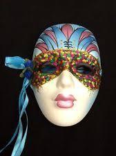 ceramic mardi gras masks mardi gras mask ceramic ebay