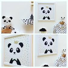 chambre bébé panda vendu tableau panda décoration chambre enfant bébé un grand marché