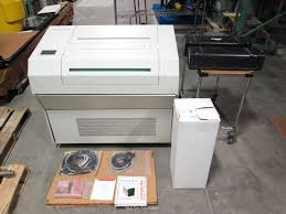 linotype hell 4570 quasar typesetting machine w delta tower