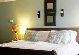 elegant modern bedroom color palette ideas with tosca green light