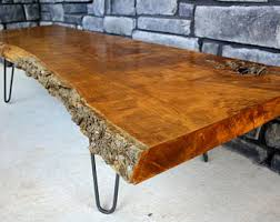 wood slice end table live edge table etsy
