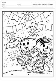 Common Atividades Festa Junina para Educação Infantil - Turma da mônica  &IZ24