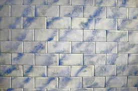 vintage blue and white tile texture picture free photograph