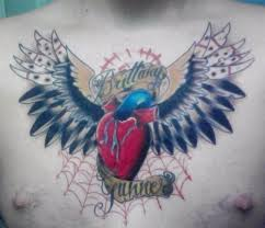 25 unique chest tattoo heart with wings ideas on pinterest