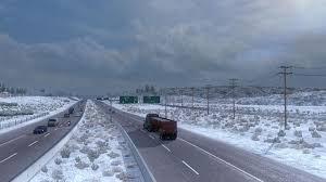 frosty winter weather mod v2 1 american truck simulator mod