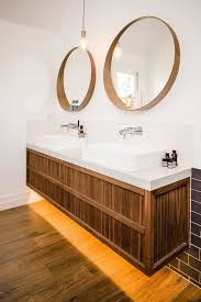 46 Bathroom Vanity 46 Bathroom Vanity Contemporary With Brown Wall Mirrors