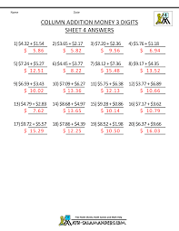 money addition worksheets year 2 column addition and subtraction