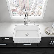 solid surface farmhouse sink vigo vgra3318cs 33 x 18 x 9 5 8 undermount farmhouse kitchen sink