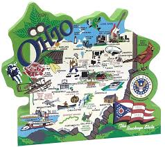 Map Of The State Of Ohio by Products The Cat U0027s Meow Village
