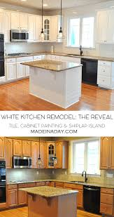 painting a kitchen island white kitchen remodel the big reveal made in a day