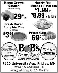 open thanksgiving day bob s produce ranch