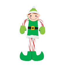 candy cane elf craft kit orientaltrading com christmas