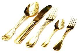 gold plastic silverware disposable gold flatware disposable gold plastic cutlery set