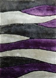 Wolf Area Rugs by 2 Piece Set Handmade Vibrant Gray With Purple Shag Area Rug With