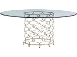 lexington dining room bollinger round dining table base 721 875