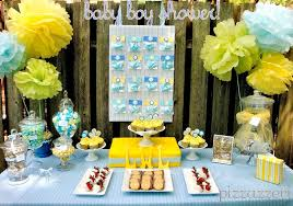 yellow baby shower ideas pale blue yellow baby shower guest feature celebrations at home