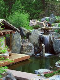 Pretty Garden Ideas Terrace And Garden Garden Pond And Deck With Waterfall Ideas 15