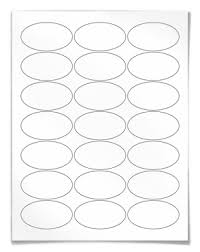 Label Printing Template 21 Per Sheet by Oval Labels For Laser And Inkjet Printing