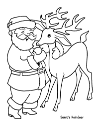 christmas santa and reindeer coloring pages learntoride co