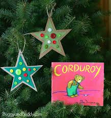 Christmas Craft Ideas Kindergarten - button star christmas ornament craft for kids inspired by corduroy