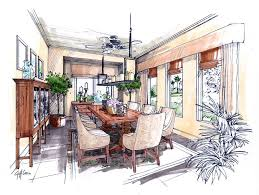 designers architects providing hand drawn architectural renderings to designers