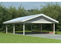 open carports detached open carport plans the faster easier way to woodworking