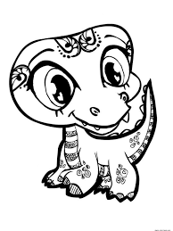 download littlest pet shop coloring pages lps figurine dolls