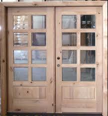 Interior Door Insulation Exterior Double Door 8 Lite Knotty Alder Doors And Double Entry