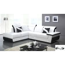 canapé d angle noir et blanc pas cher canape d angle blanc et noir canapac tissu angle blanc cocoon